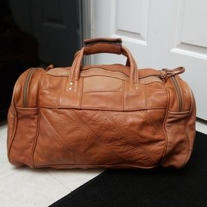 Other - Real Leather Duffle Vintage weekender travel bag